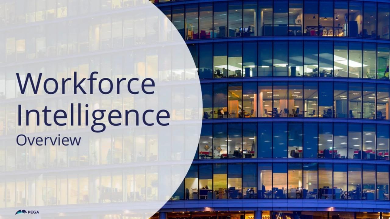 Pega Workforce Intelligence Overview
