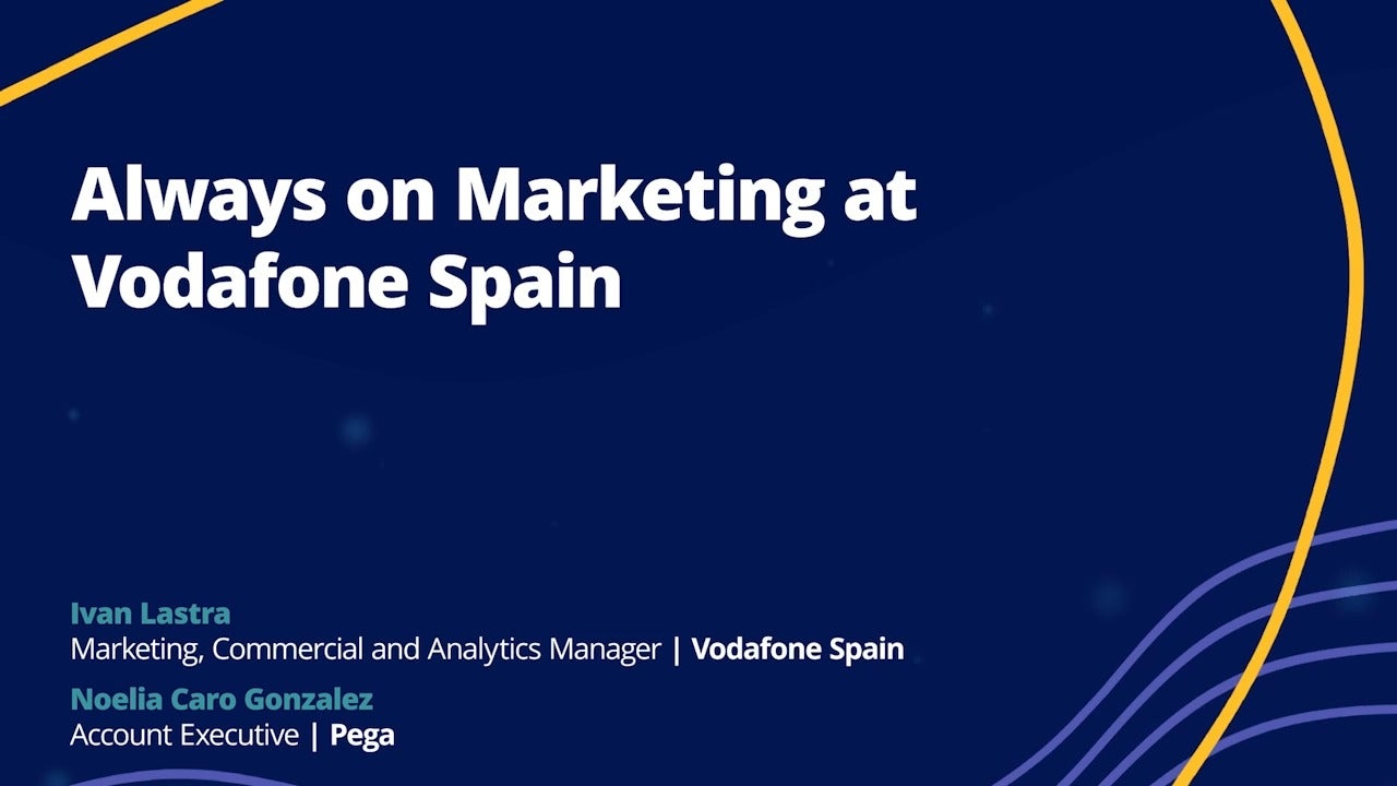 Always on Marketing at Vodafone Spain