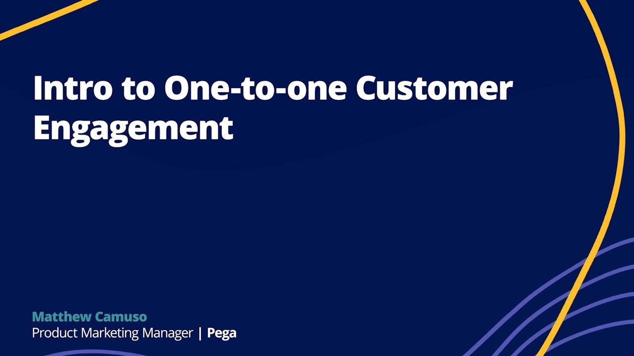 Intro to One-to-one Customer Engagement
