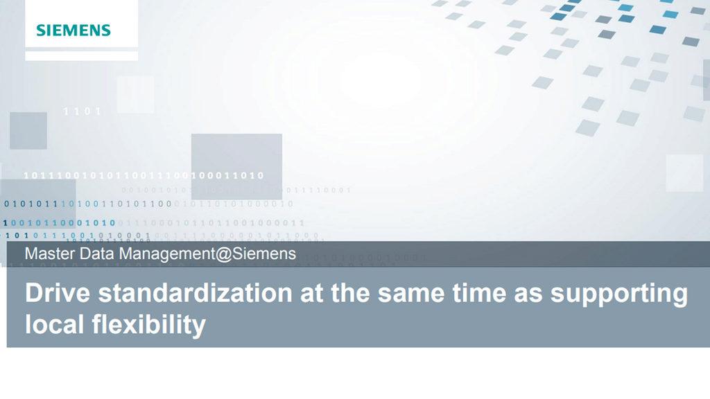 Master Data Management presentation