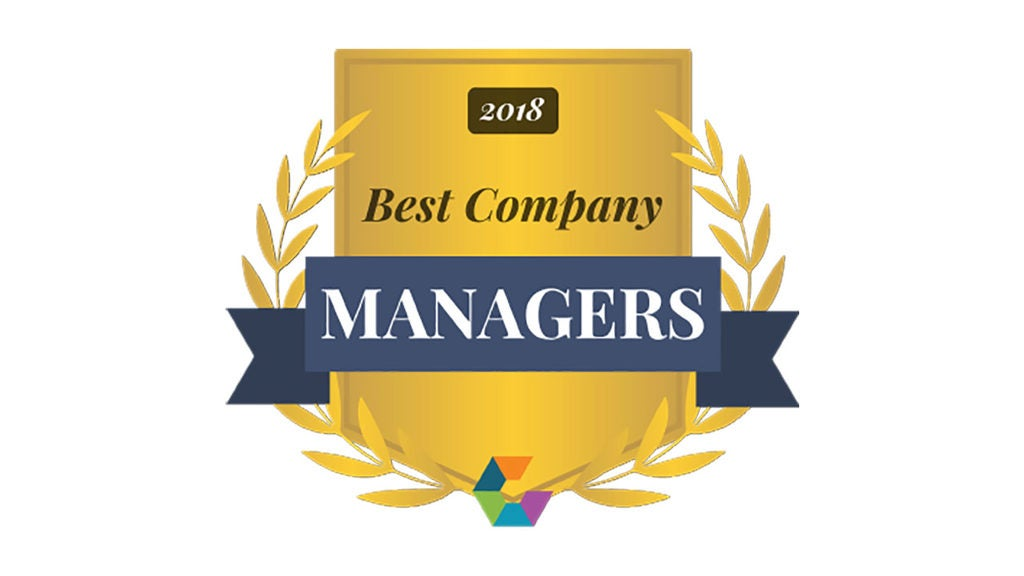 2018 Comparably Gold Managers award