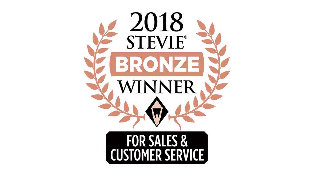 2018 Stevie Bronze award