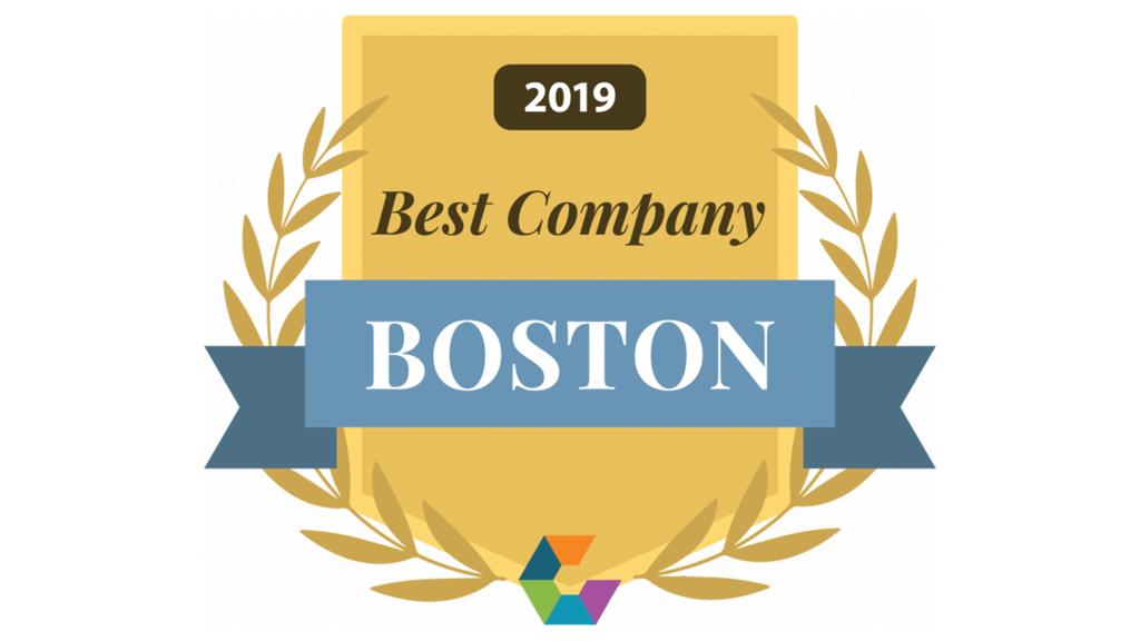 2019 Best Company in Boston award