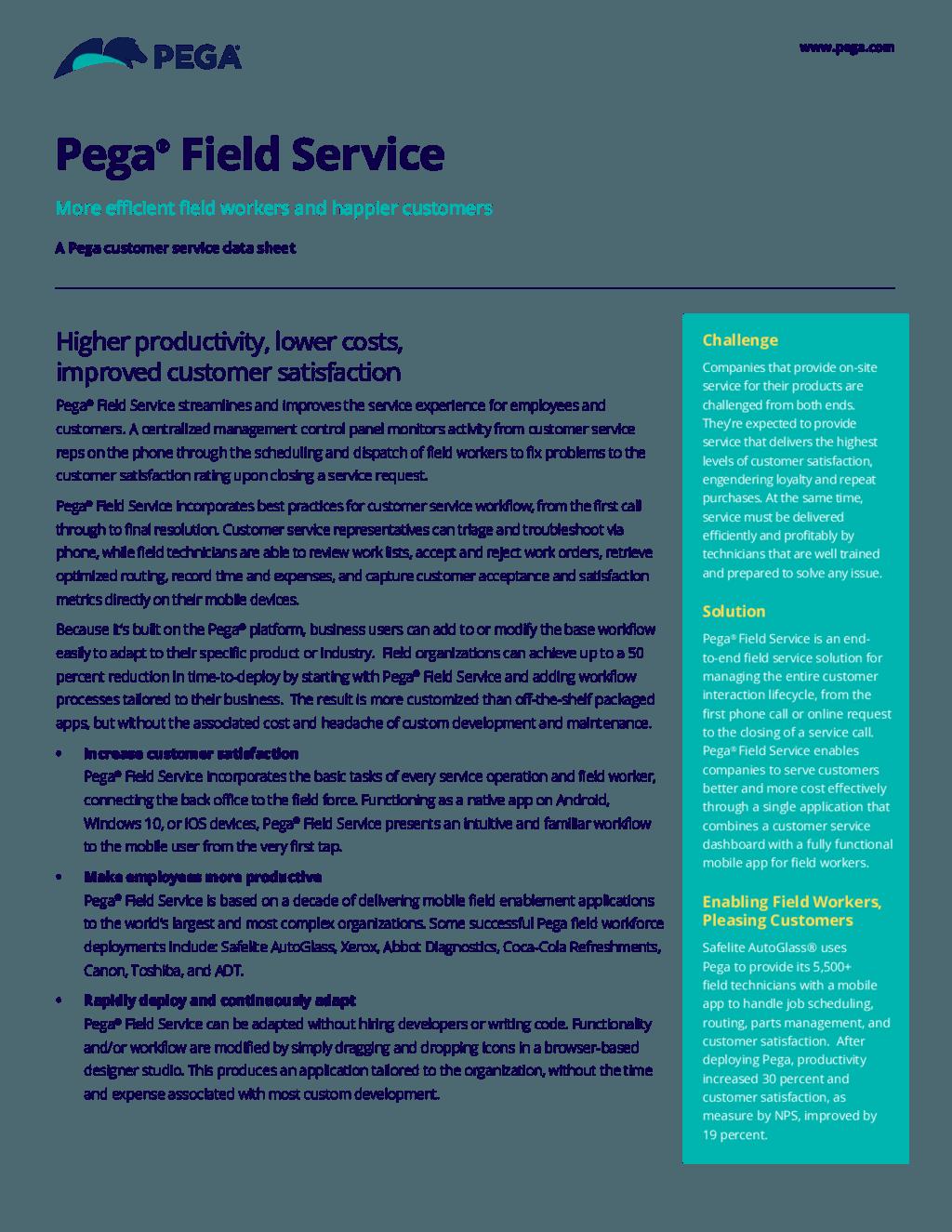 Pega Field Service. PDF ...