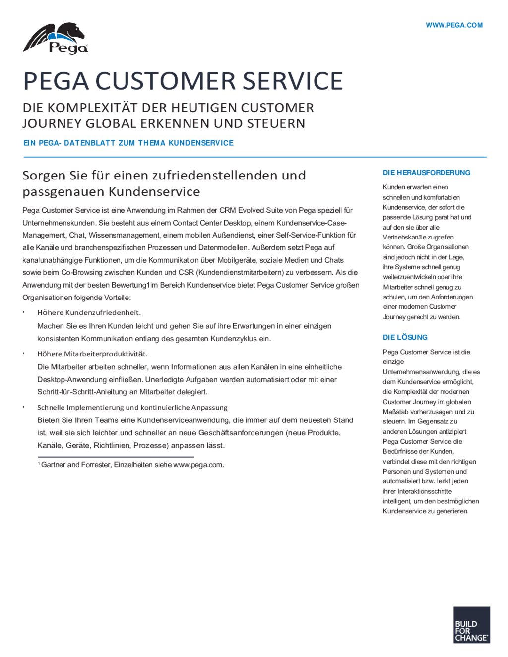 Pega Customer Service Application (Deutsch) | Drupal