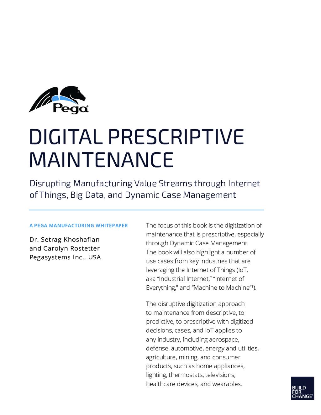 Prescriptive Maintenance Digital