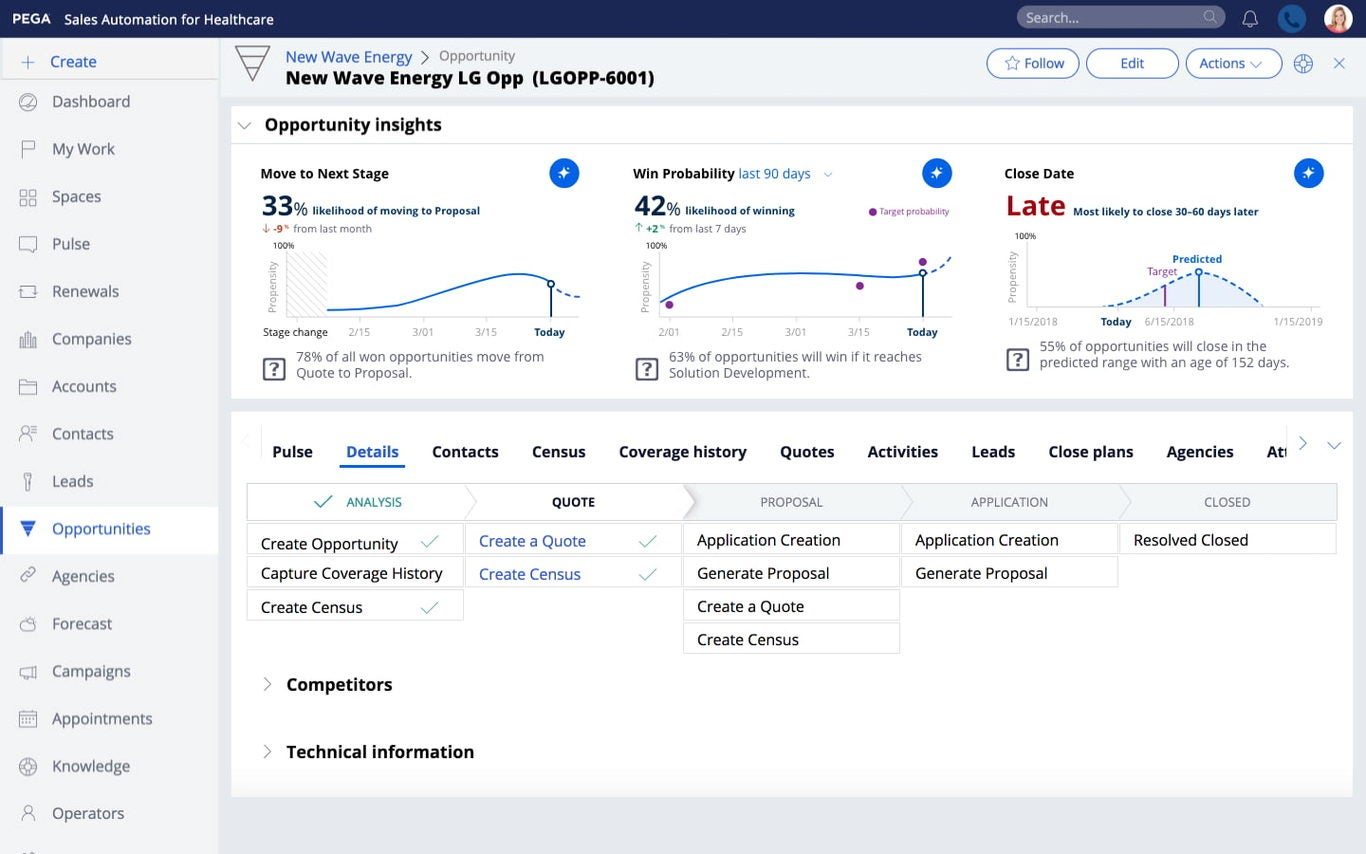 Sales Automation for Healthcare f5