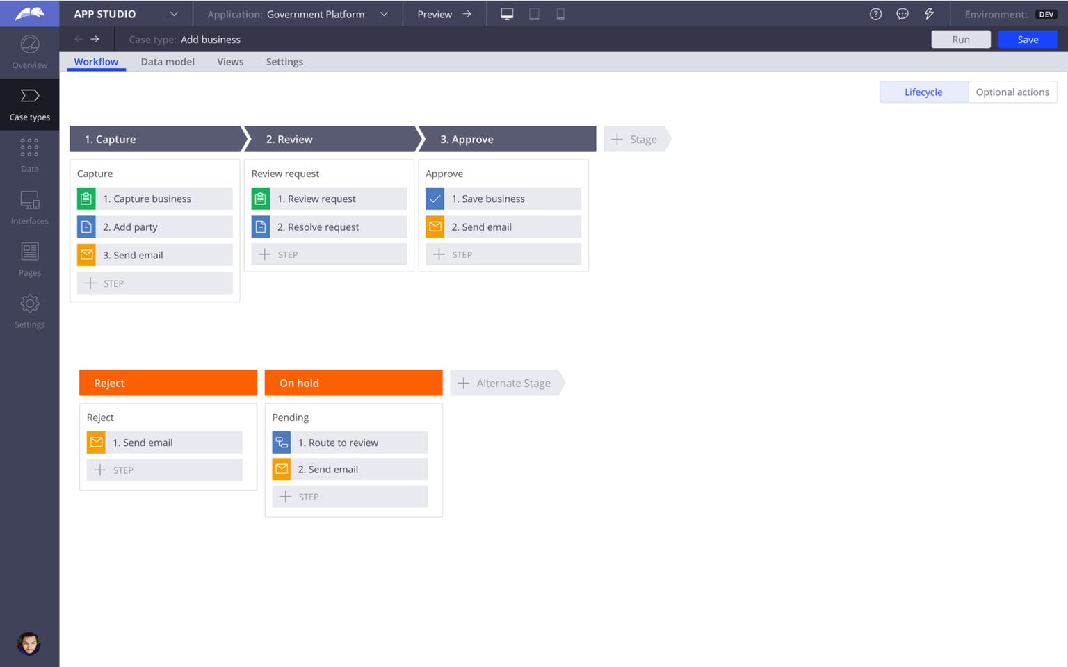 government platform-f1