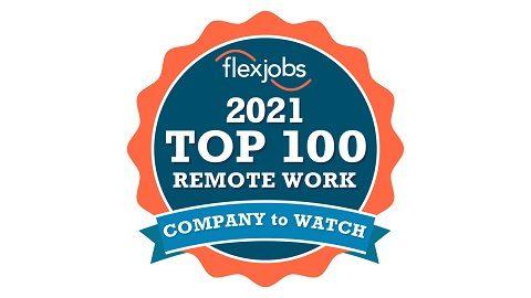 Flexjobs Top 100 Remote Work award