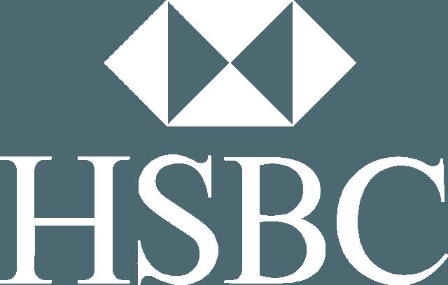HSBC logo white