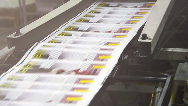 Print and media company accelerates cash flow
